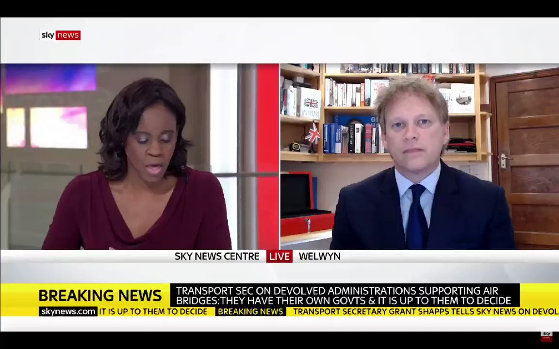 Grant Shapps says it was perfectly alright for Boris Johnsons father, Stanley Johnson, to ignore the travel advice. #KayBurley