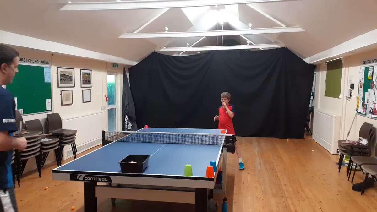 This is my little brother Reuben, aged 9. He's ranked 6 in England for his age group.  #tabletennis #sport #sportspic.twitter.com/nm4gjAOVc0