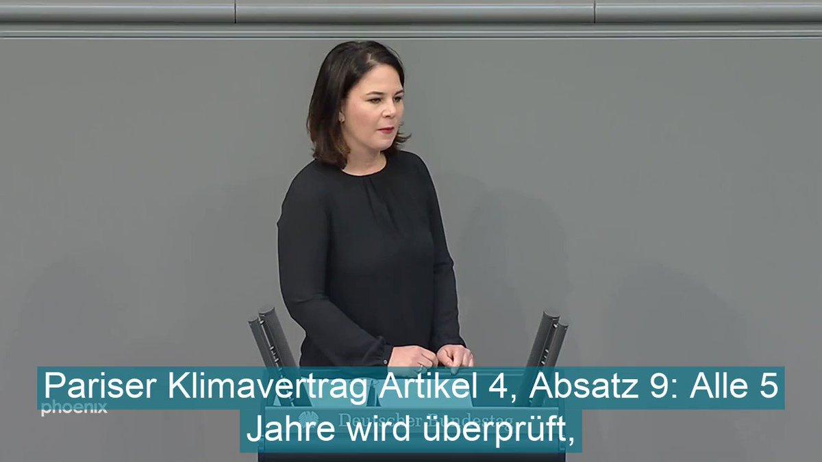 Image for the Tweet beginning: Grünen-Vorsitzende Annalena @ABaerbock reagiert auf