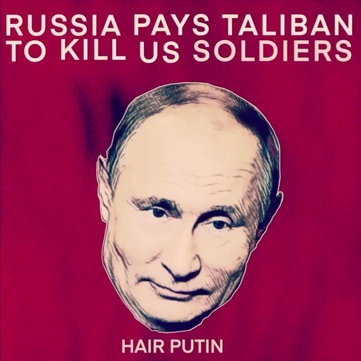 Heavy is the head that wears the hair. #russia #putin #trump