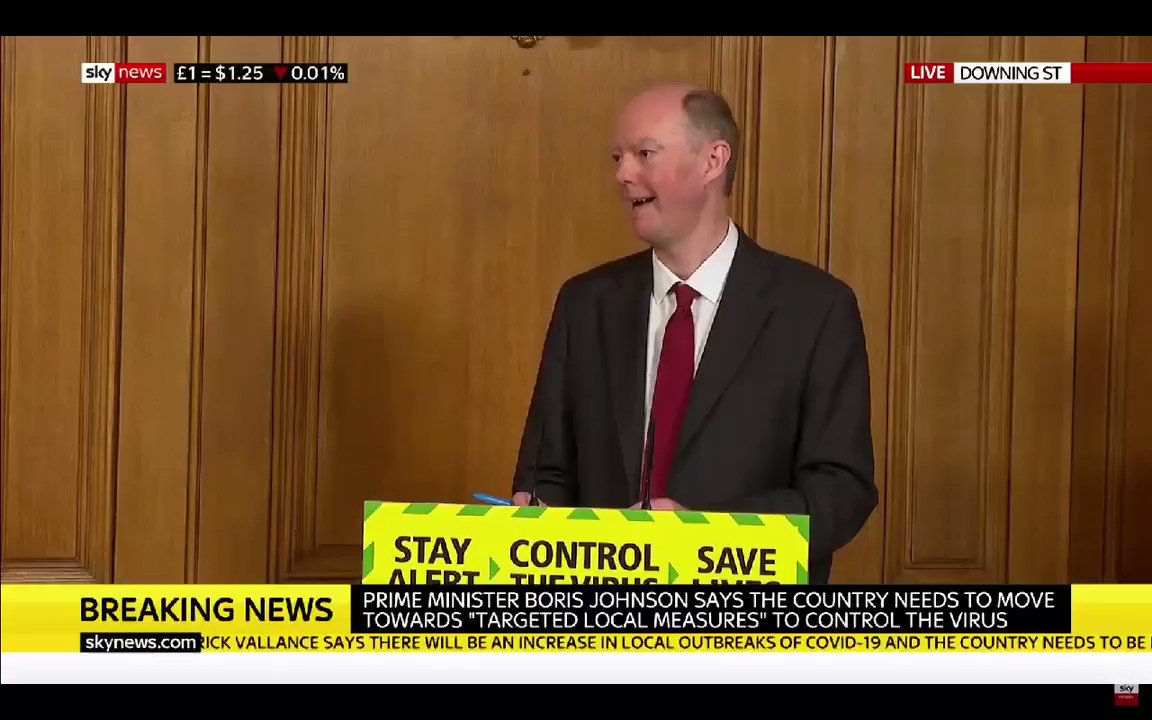Chris Whitty - The pub issue....The biggest risks are when lots of people from completely different households are brought together in close proximity indoors... that is a high risk activity. #DailyBriefing