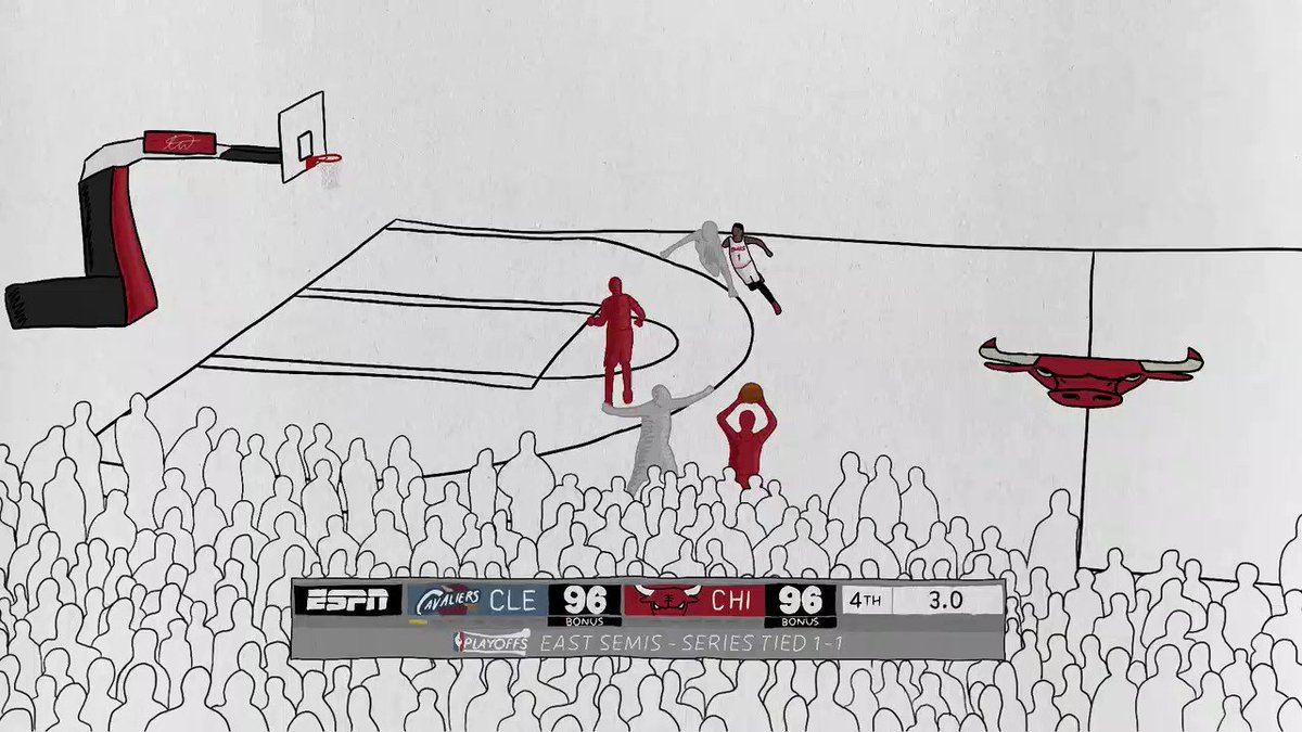 Drew almost 300 frames this time for an all-time shot Derrick Rose vs. Cleveland
