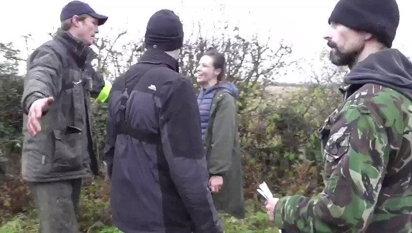 SHOCKING: Video of a hunt saboteur spitting on a local farmer, who was volunteering as a hunt steward. The sab was trying to disrupt the hunt's lawful trail hunting activities at the time of the assault. Read the full story here: bit.ly/2YXNF4Y