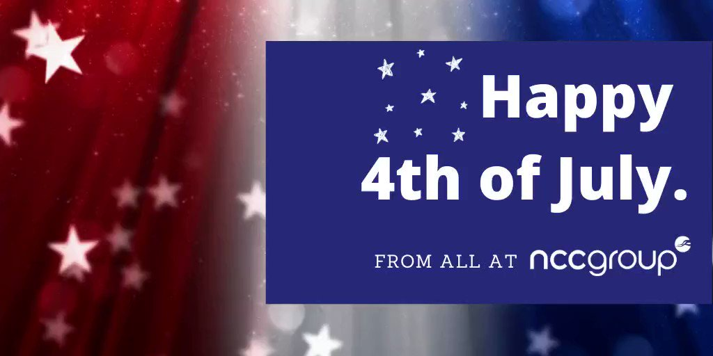 Wishing all our colleagues and customers a happy and safe 4th of July https://t.co/XuQvb59DEP