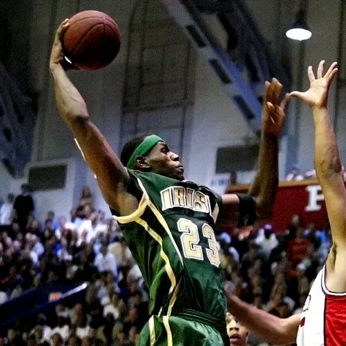 The best high school basketball player of all time, @KingJames.