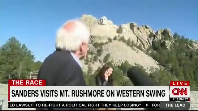 "In 2016, CNN's Jeff Zeleny called Mount Rushmore a ""monument to four great American Presidents""  Bernie Sanders said ""this is our country at its very best,"" called it an ""incredible achievement,"" and said it ""really does make one very proud to be an American."""