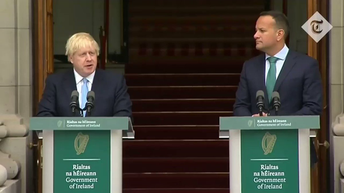 """Boris Johnson on a no-deal 2019 - """"Be in no doubt, that outcome(no-deal) would be a failure of statecraft for which we would all be responsible."""" Boris Johnson on a no-deal 2020 - """"We will have the very good option of an Australian style arrangement. A no-deal in other words."""
