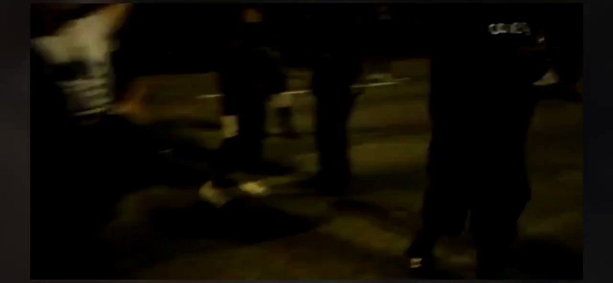 Livestream from protester by the name of Diaz Love who appears to be one of the ones hit.