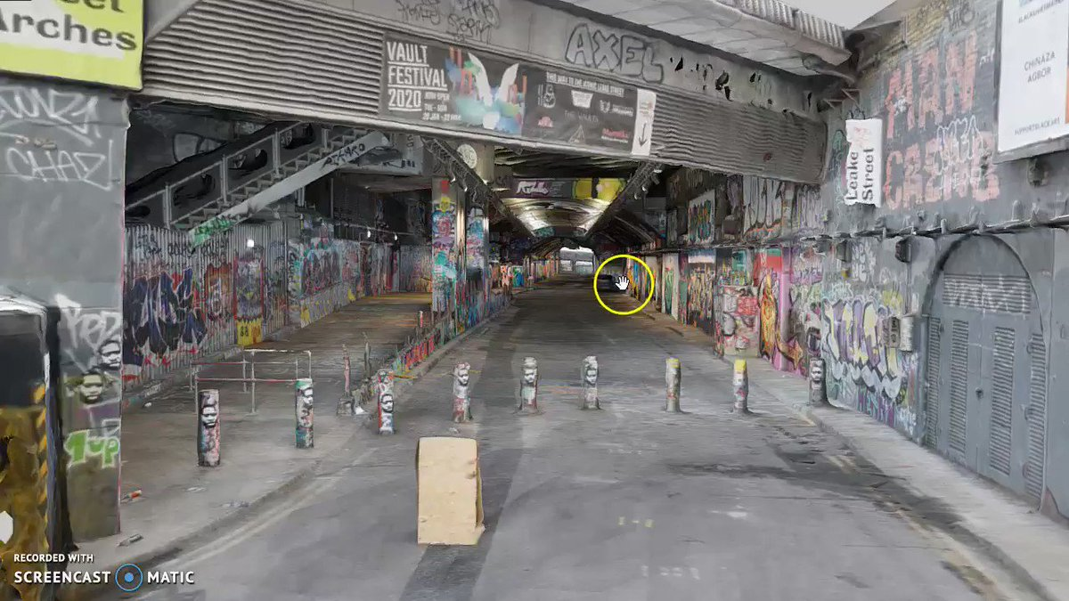 Do you like graffiti? Then youll enjoy exploring this new #photogrammetry scan of the Leake Street tunnel. Possibly the biggest concentration of graffiti in London. 3D/VR: skfb.ly/6TFJV