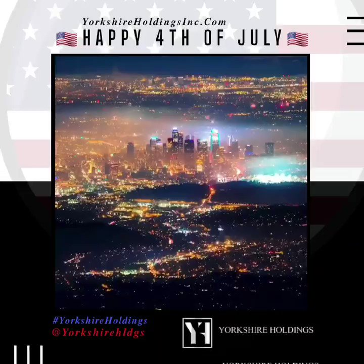 Today, we celebrate the independence of our great nation! Take a moment to say a prayer & to truly appreciate this wonderful country.  From all of us at @Yorkshirehldgs, we wish everyone a safe, healthy & Happy #4thofJuly.  #4thofJuly2020 🗞#YorkshireAnalysis 🏛#YorkshireHoldings https://t.co/DUVKLiTo9d