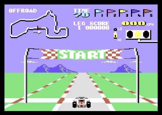 BUGGY BOY on COMMODORE 64  Very well rated (97% on Zzap!64), it's a simple but fun sprite-based racer, with responsive controls. This conversion from the original 1985 Tatsumi/Taito arcade was done by Elite in 1987.  #commodore #c64 #retrogaming #retrocomputing #8bit #C64Retweetspic.twitter.com/MPdYIA5kik