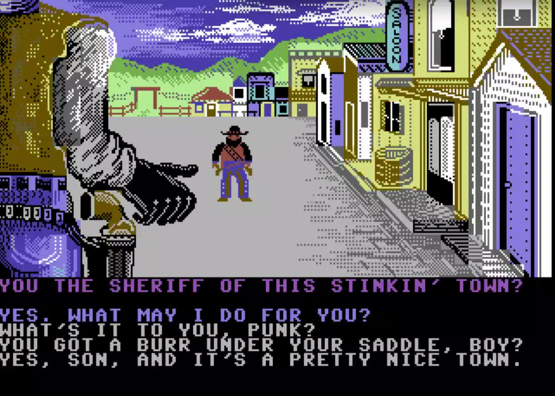 I'm staying in this evening and playing Law of the West!  #RETROGAMING #retro #ec64forum #c64retweets #8bit #Commodore  #1980s #commodore64 #retrogamer #nostalgia #c64 #classicpic.twitter.com/3e9HCsFlkd