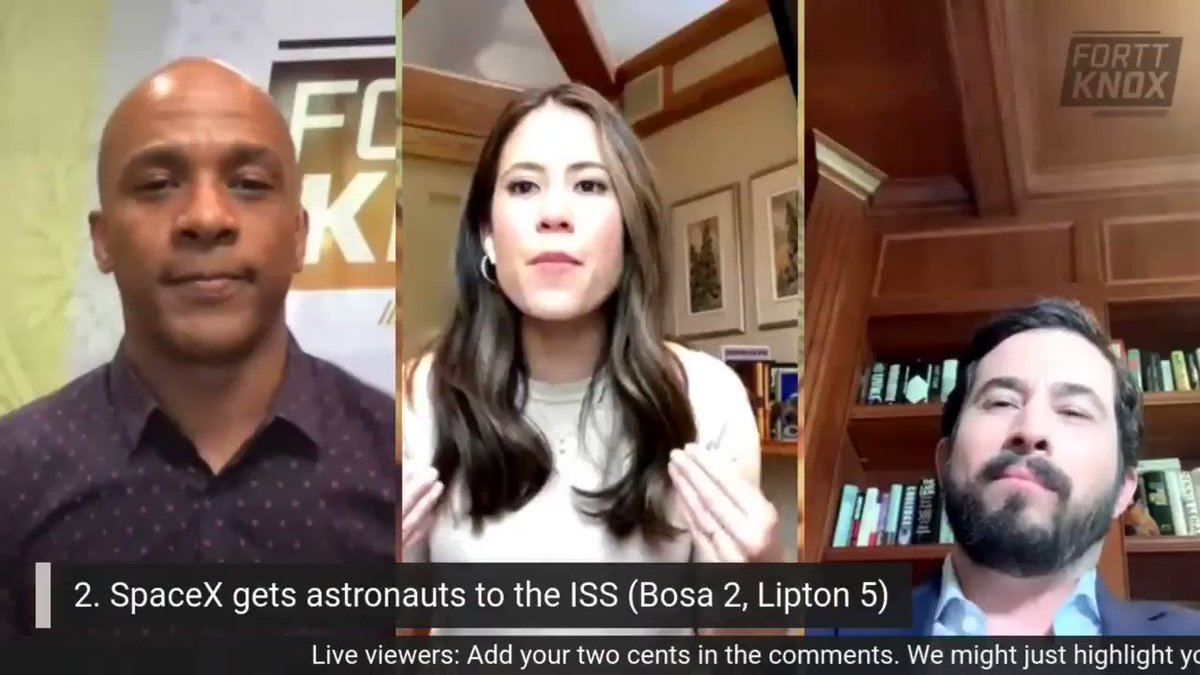 Another take on the top tech business story in June: @dee_bosa says it was @elonmusk and @SpaceX delivering astronauts to the ISS, making history. I had it at #2, @CNBCJosh at #5. Check out the full #forttknox video on LinkedIn at linkedin.com/posts/jonfortt…