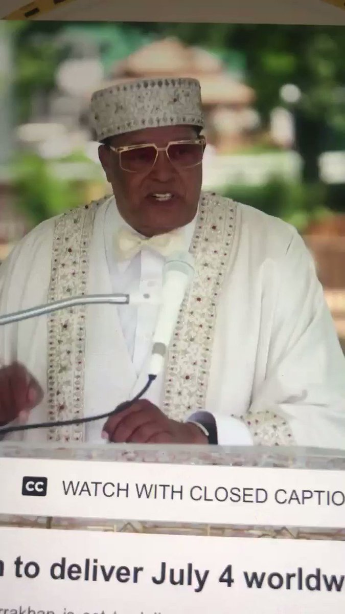 Once you let White people know your level of intelligence.. they know they can't Master you and will begin to move you out. Minister Louis Farrakhan is preaching! #LouisFarrakhan