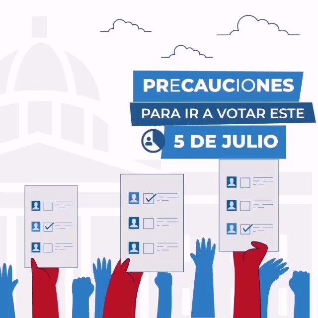 Image for the Tweet beginning: Precauciones para ir a votar