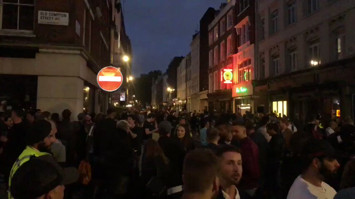 Soho in London is jammers, mask on and home time for me. Absolute madness