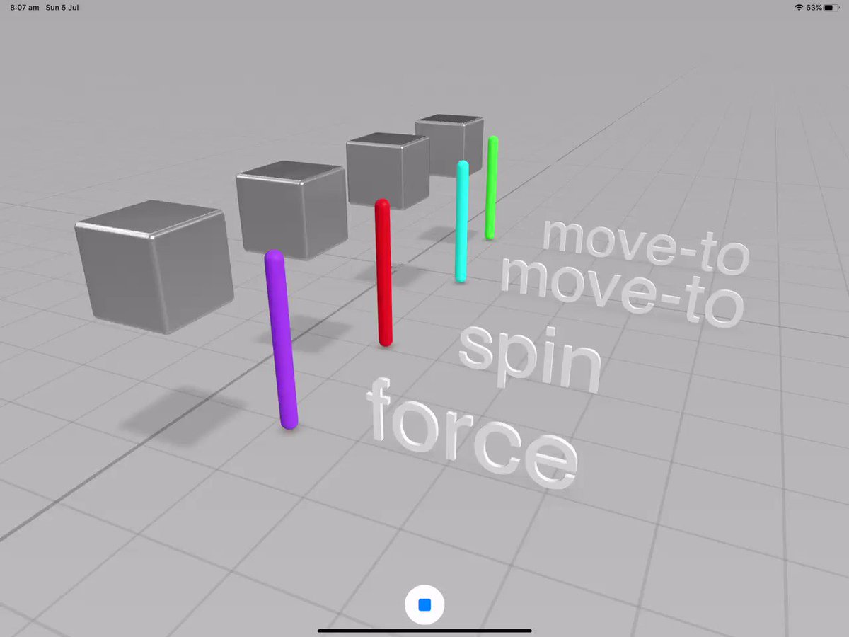 Image for the Tweet beginning: Collisions in Reality Composer App.