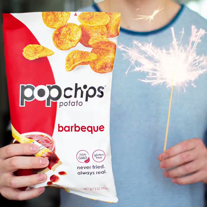 Two things sure to SPARK joy this weekend 🥔💥 #HappyFourth, #popchips fam ❤️ https://t.co/I81b3jEpw5