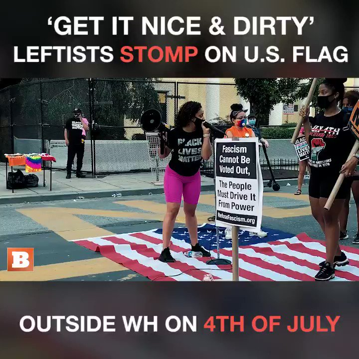 """[The American flag] it's dirty, it represents filth."""
