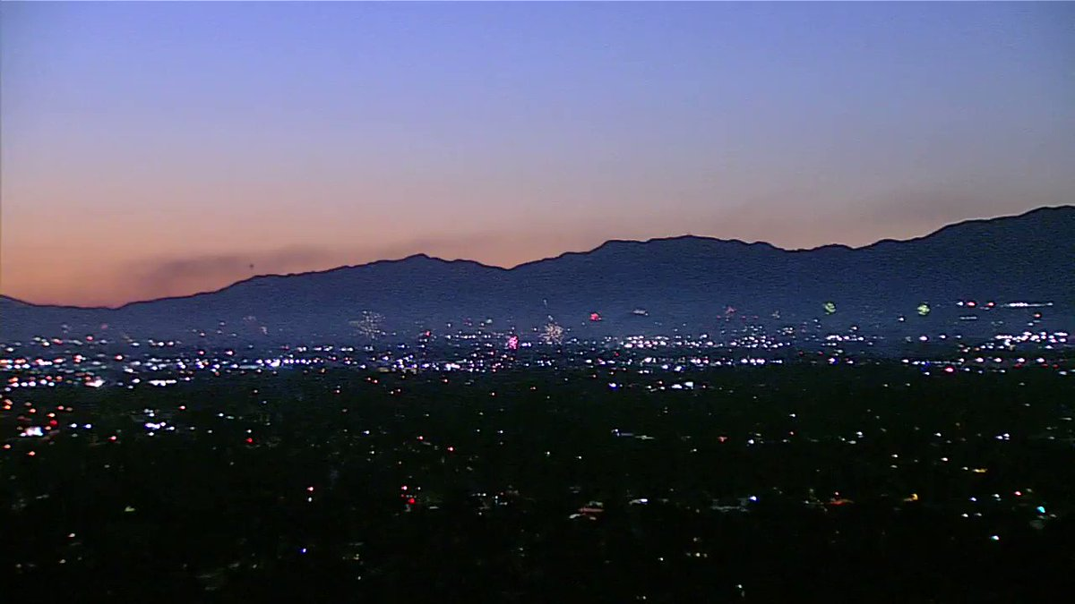 Fireworks & fireworks shows are banned in Los Angeles County this #July4th. But look at our Burbank camera and our LAX camera looking toward South LA... it's never-ending. @ABC7 https://t.co/v2t4G0aslS