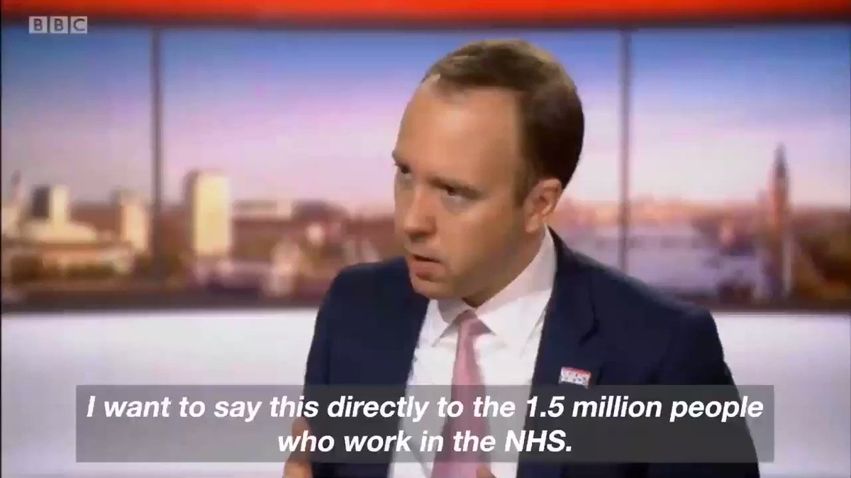 Our NHS workers have shown incredible ingenuity & flexibility in the #coronavirus crisis. We've removed a whole load of the rules & bureaucracy that have held back individual changes & individual intuition being used on the frontline #Marr