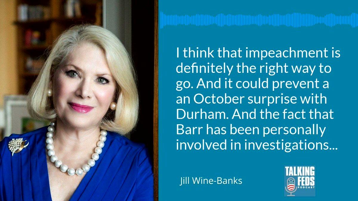 "Democrats need to prevent an ""October surprise"" with Barr using DOJ as a political tool explains @JillWineBanks. #SistersInLaw @mayawiley @BarbMcQuade @JoyceWhiteVance @talkingfedspod"