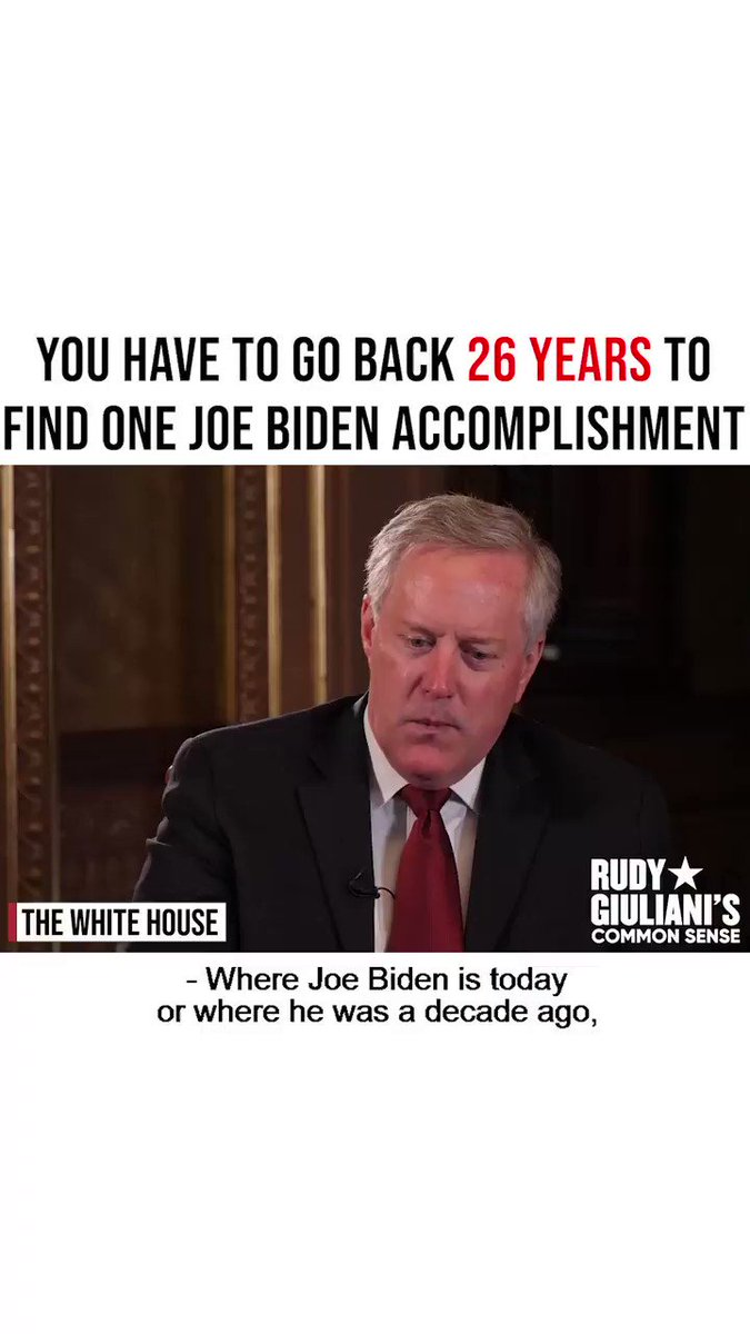 Chief @MarkMeadows on Joe Bidens track record Full interview at the White House here: youtube.com/watch?v=eDVo5-…