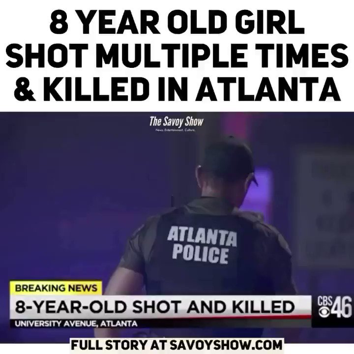 An 8 year old girl was shot multiple times and killed in Atlanta last night. Something isn't adding up about this.