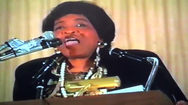 Listen to the words of Sister Betty Shabazz.Loving each other it's a problem.