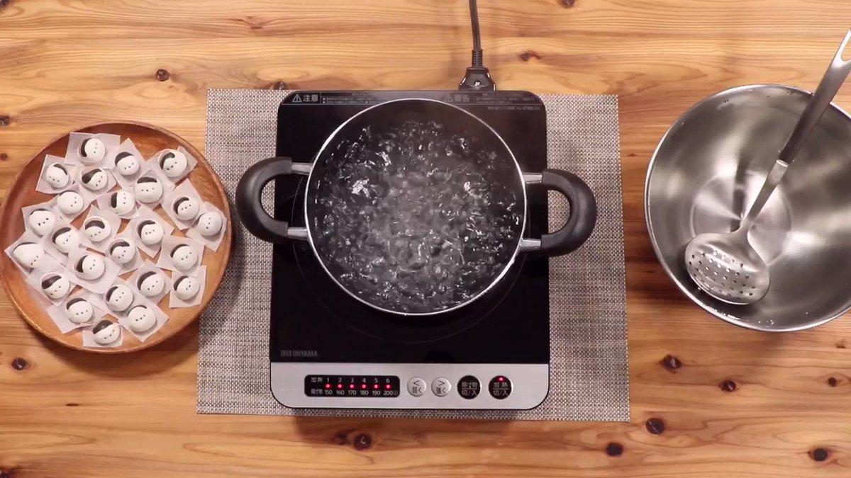 白玉団子を茹でるだけの動画なのに、かわいそうな気がするのはなんでだろう?(確信犯)