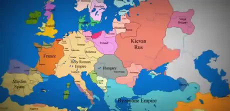 A thousand years of European history, squeezed into just ten seconds 😮 9gag.com/gag/a1K2Eo2