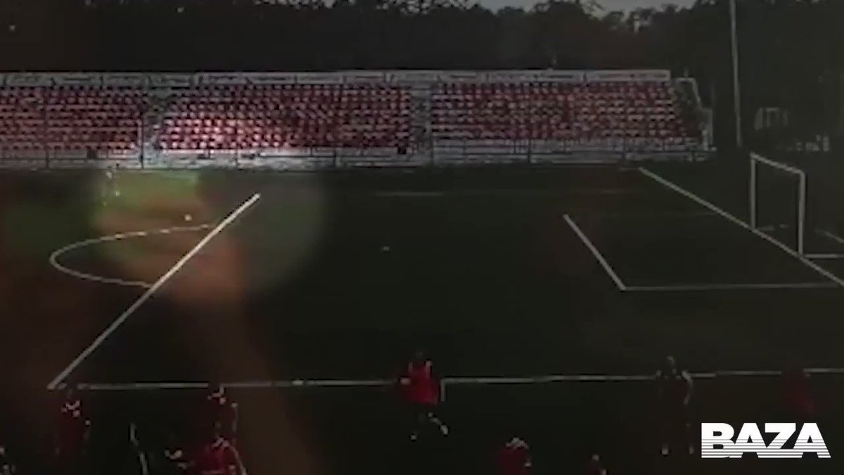 This is the harrowing video of the moment Russian 3rd tier club FC Znamya Trudas youth goalkeeper Ivan Zaborovsky is struck by lightning in training The 16-year-old is currently in a coma and on a life support machine.