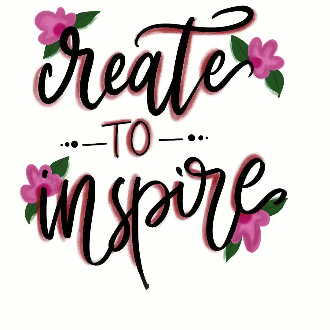 create To inspire - time lapse   #awsm #lettering #digitalart #timelapse #inpiredpic.twitter.com/mBgRpfrLLL