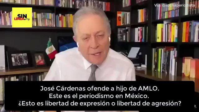 José Cárdenas se lanza contra AMLO e insulta a su hijo menor de edad. Este es el periodismo en México: Una vergüenza #LordCobarde #ConLosNiñosNo Vía: @rochaperiodista