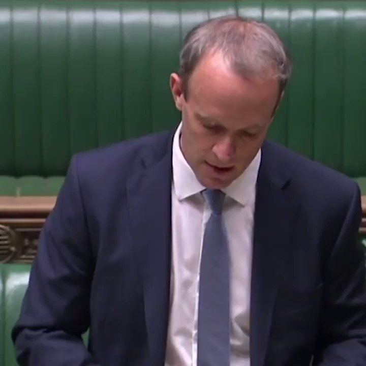 Those with blood on their hands... will not be free to waltz into this country to buy up property on the Kings Road. Dominic Raab says perpetrators must be held to account as he outlined the UKs imposed sanctions against human rights abusers.