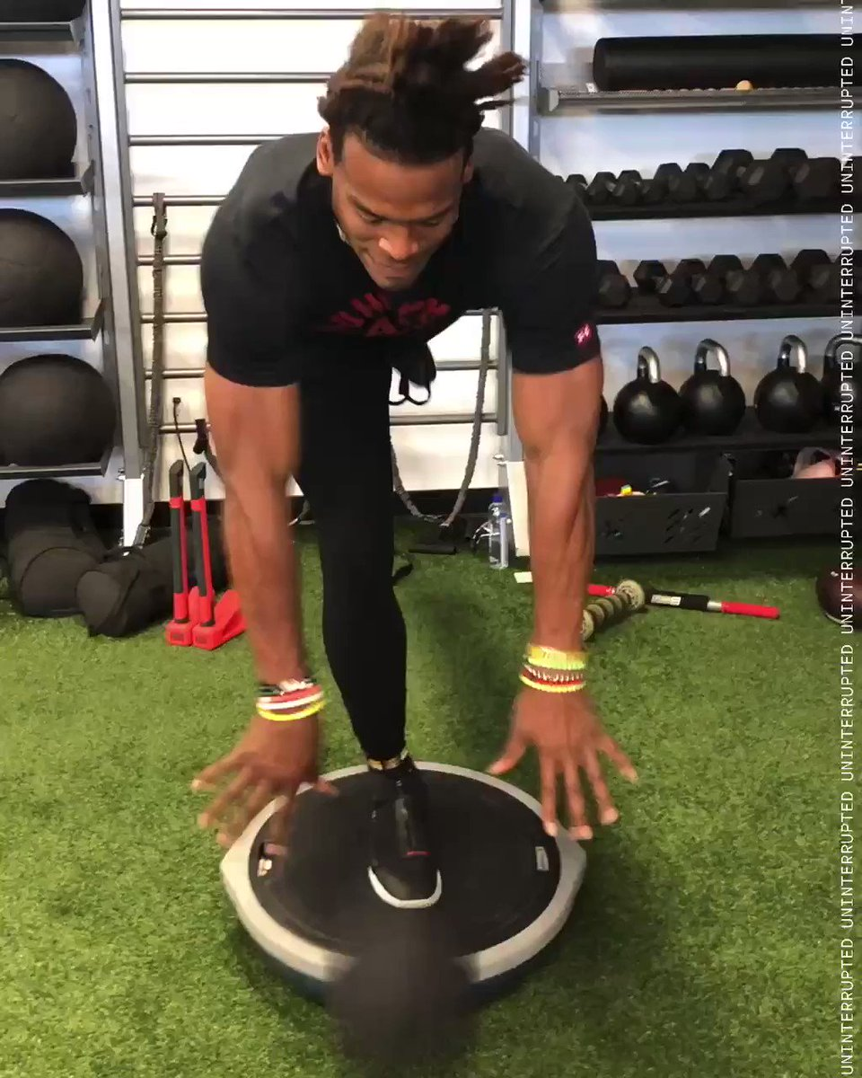 .@CameronNewton staying ready for the next chapter 😤#StriveForGreatness🚀 https://t.co/6S62nJe9gZ
