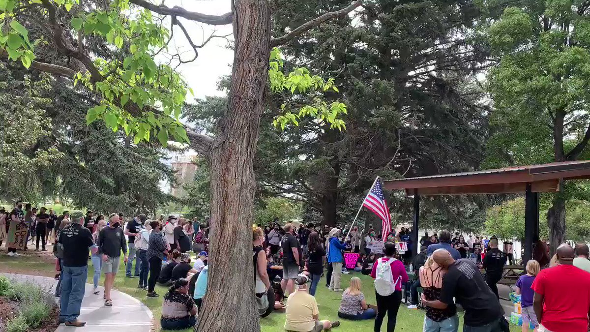 Recent #blacklivesmatter rally in Idaho Falls, another predominantly white rural Western town. The truth is in the follow-through, but as someone who grew up in a small Western town, I can tell you, this is remarkable. Keep it going America. Do not stop.
