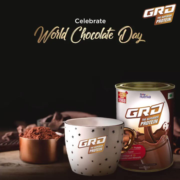 Indulge in chocolate on World Chocolate Day without compromising on your health with the immunity boosting GRD – The Superior Protein.​ ​ #WorldChocolateDay #GRD #GRDProtein #Immunity #Chocolate #ChocolateMilk #HealthyLiving #Health #Protein #Fitness #Immunity #ImmunoBoosterpic.twitter.com/7ErGEoh11m