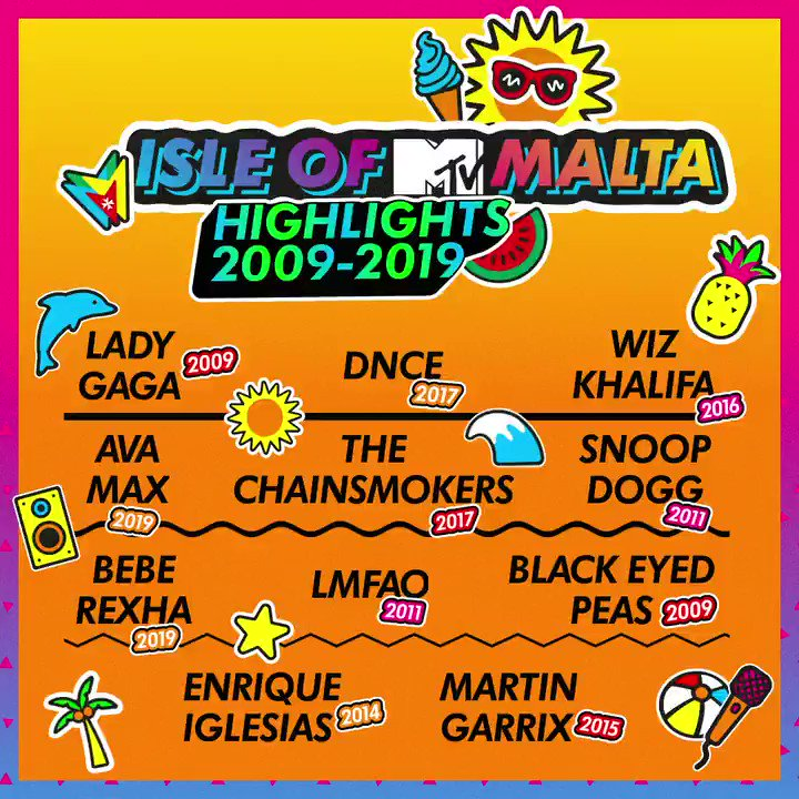 As excited as we are for yet another unforgettable summer, #IsleofMTV will return to stunning Malta even stronger in 2021! Until then, let's keep the party alive and join us at midnight on Friday on MTV Music to relive the best #IsleofMTV performances over the years! @VisitMalta