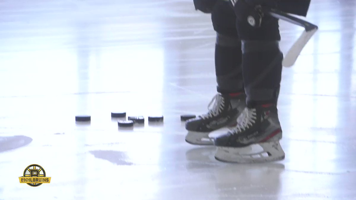 New video from Warrior Ice Arena today. More of the usual suspects on the ice today: Bergeron, Marchand, Chara, Kuraly, Grzelcyk and Halak. (📹: Boston Bruins)