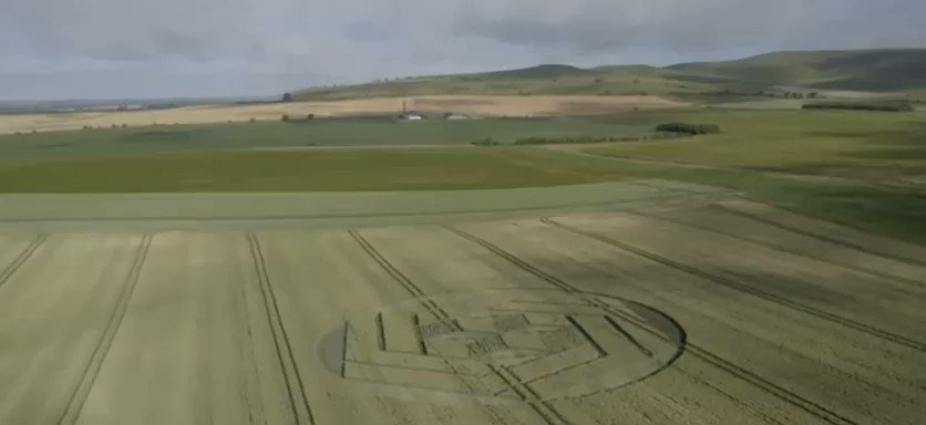 Image for the Tweet beginning: #CropCircle Stanton St Bernard -