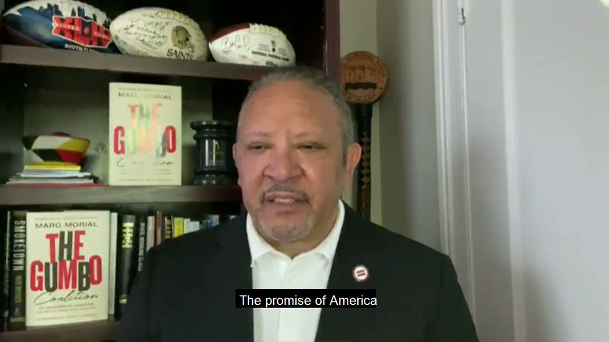 .@MarcMorial rightly pointed out in our recent town hall on #racialequality that the American Dream only lives up to its promise when it is made available to everyone.