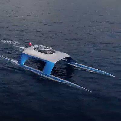 The Glider yacht is the most unique-looking thing on the water 🌊🛥 #boat #technology #futuristic via @InTheKnow @HeinzVHoenen @mvollmer1 @AshokNellikar @KanezaDiane @CurieuxExplorer @ShiCooks @labordeolivier @Nicochan33 @baski_LA @AlAmadi1 @enricomolinari @asokan_telecom