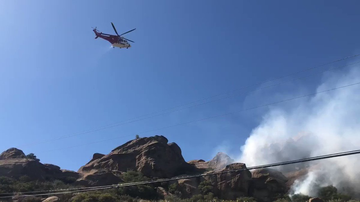 Image for the Tweet beginning: #CanyonIncident Firefighter are on scene