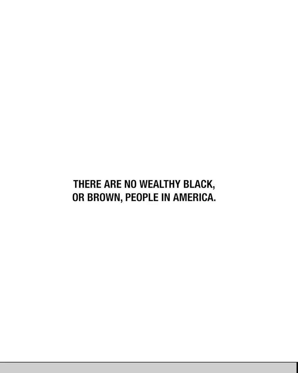 We got some rich ones, but we don't got no wealth