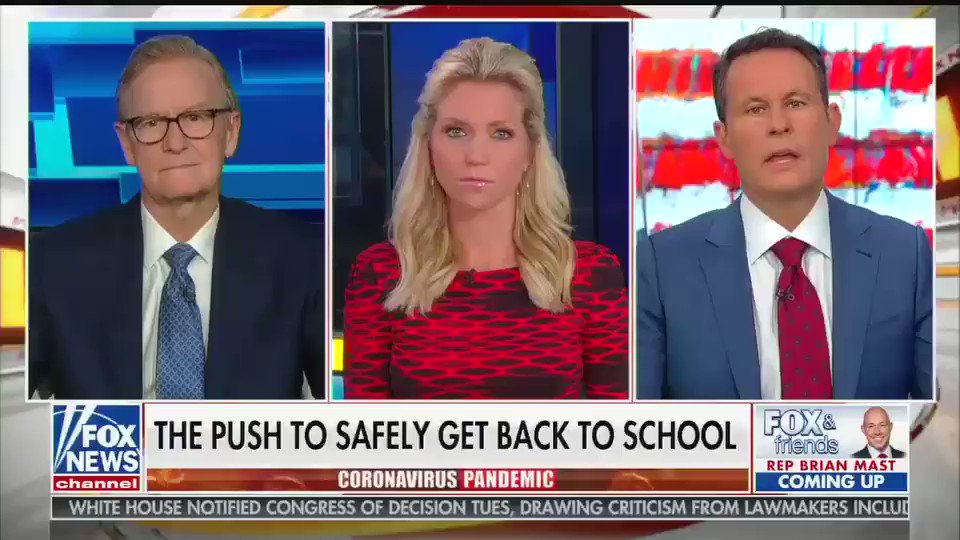 "Brian Kilmeade says schools must re-open in the fall in part because ""life is full of risks, kids should learn that early that life is full of hurdles, you've got to find a way to overcome."""
