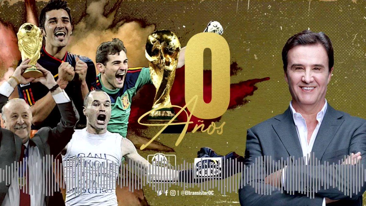 """🔺Recuerda, hoy jueves a las 23:30 """"Especial X aniversario del Mundial"""" en @ElTransistorOC!! ▪️Vicente del Bosque ▪️@IkerCasillas ▪️@andresiniesta8 ▪️@Guaje7Villa ¡Recuerda con nosotros el momento en que hicimos historia!"""