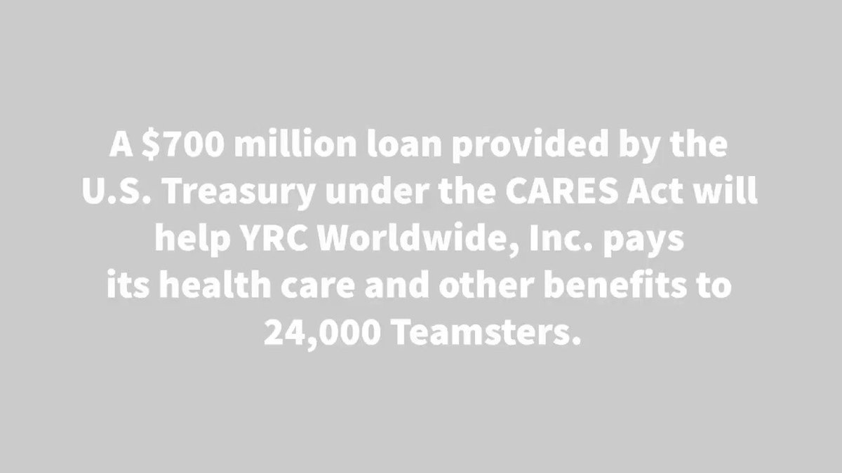 Image for the Tweet beginning: A $700 million #CARESAct loan