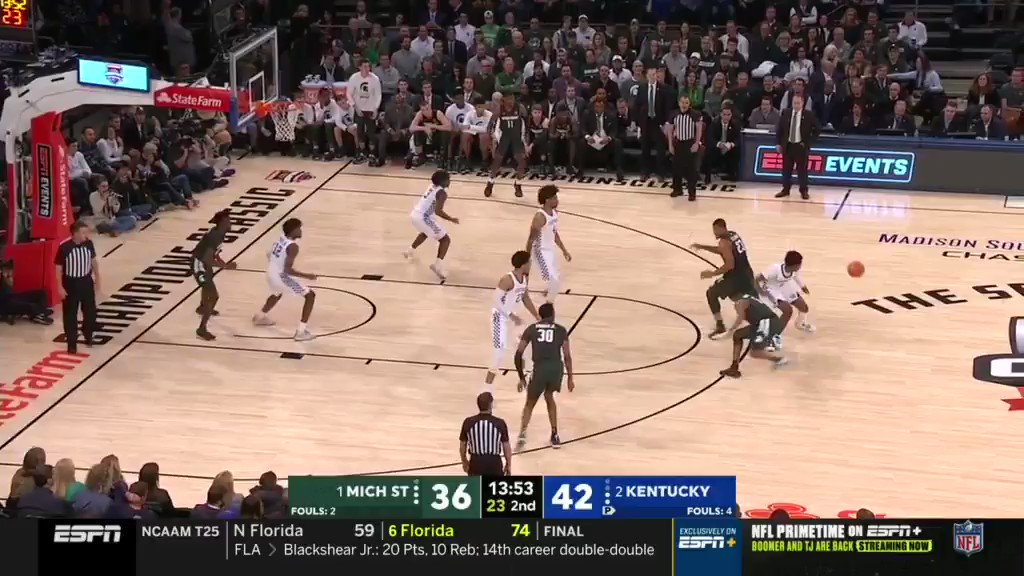 Our next ESPN Film Session guest will be Kentucky big man Nick Richards, who was the most efficient finisher in college basketball among players with over 100 attempts @ 79%. The 7-footer made a huge jump from his sophomore to junior season. Light on his feet with a 7-5 wingspan. https://t.co/FDla2XXab4