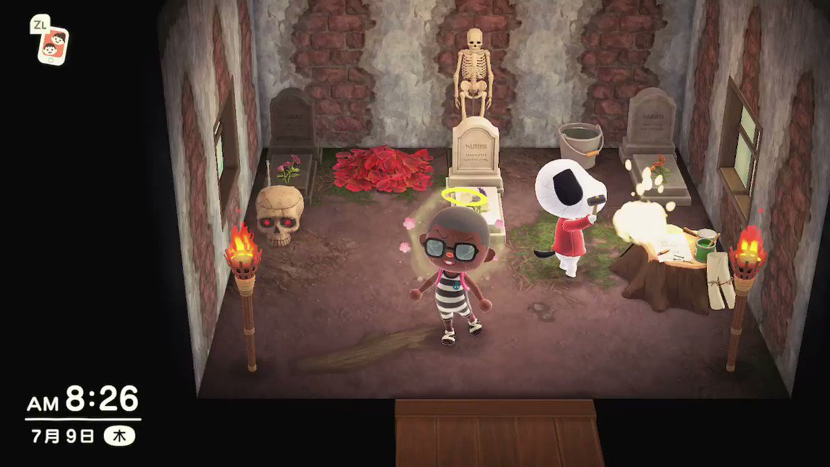 もうこの子には、お墓しかあげん!!!好きーーーーー!!! #どうぶつの森 #AnimalCrossing #ACNH #NintendoSwitch